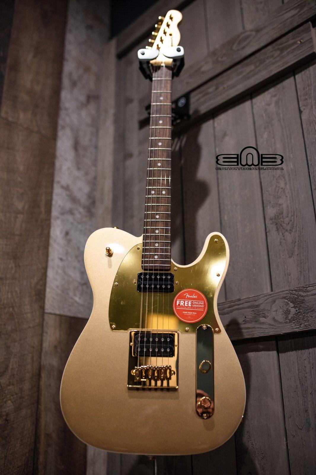 Fender Squier J5 Telecaster Electric Guitar, Laurel Fingerboard, Frost Gold