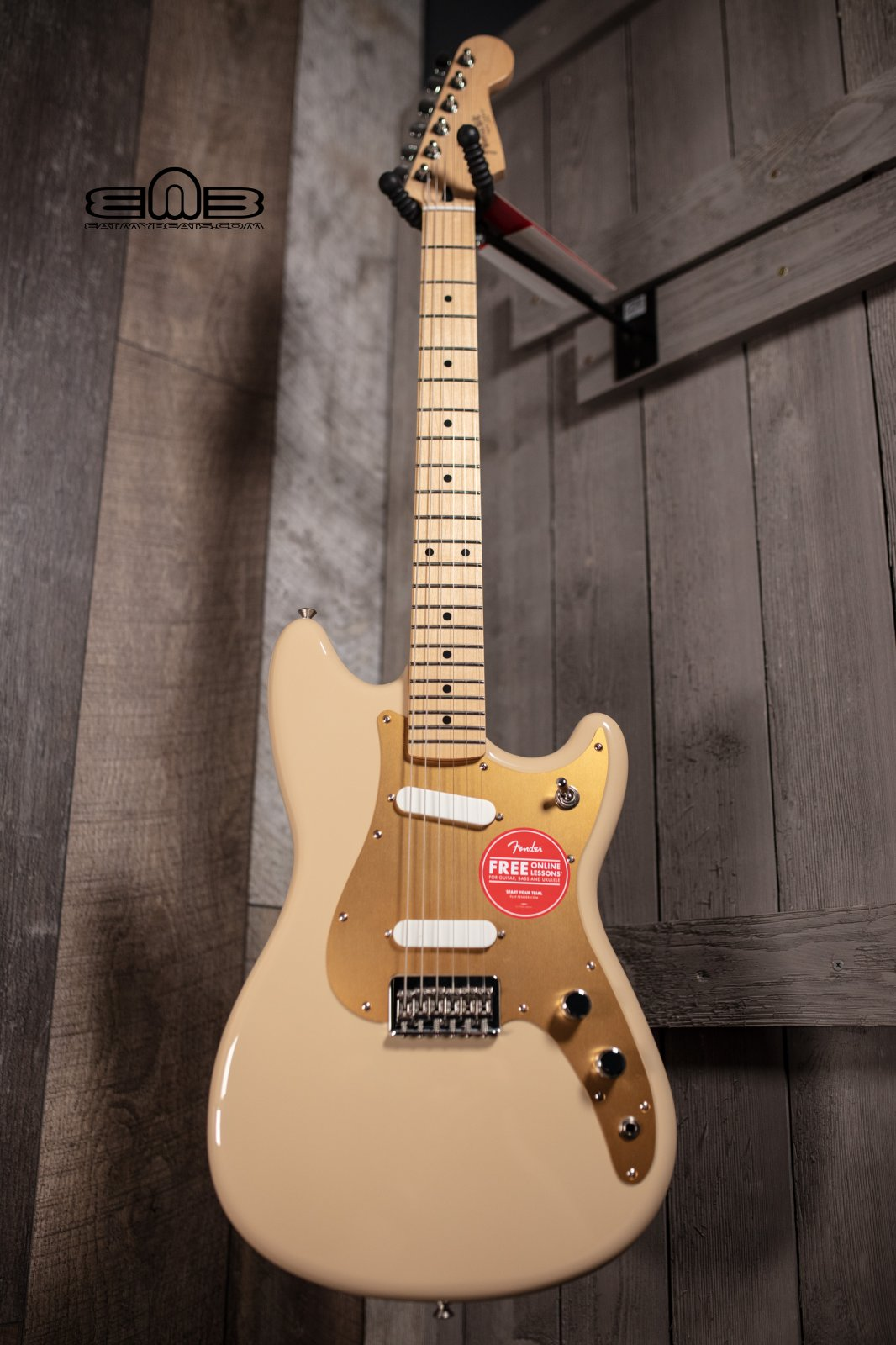 Fender Player Duo Sonic, Maple Fingerboard, Desert Sand Electric Guitar