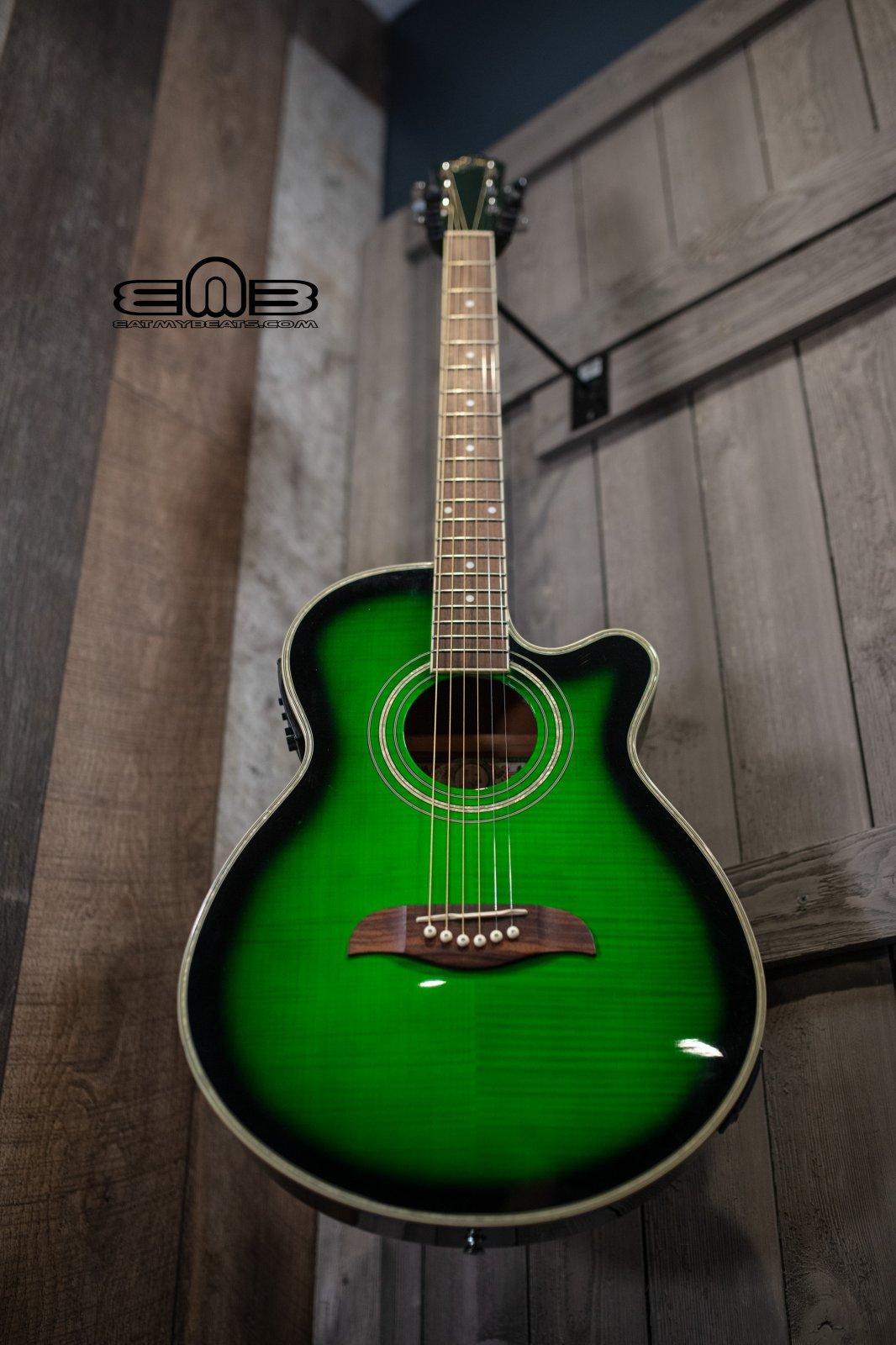 Oscar Schmidt OG10CEF GR Electric Acoustic Guitar - Used