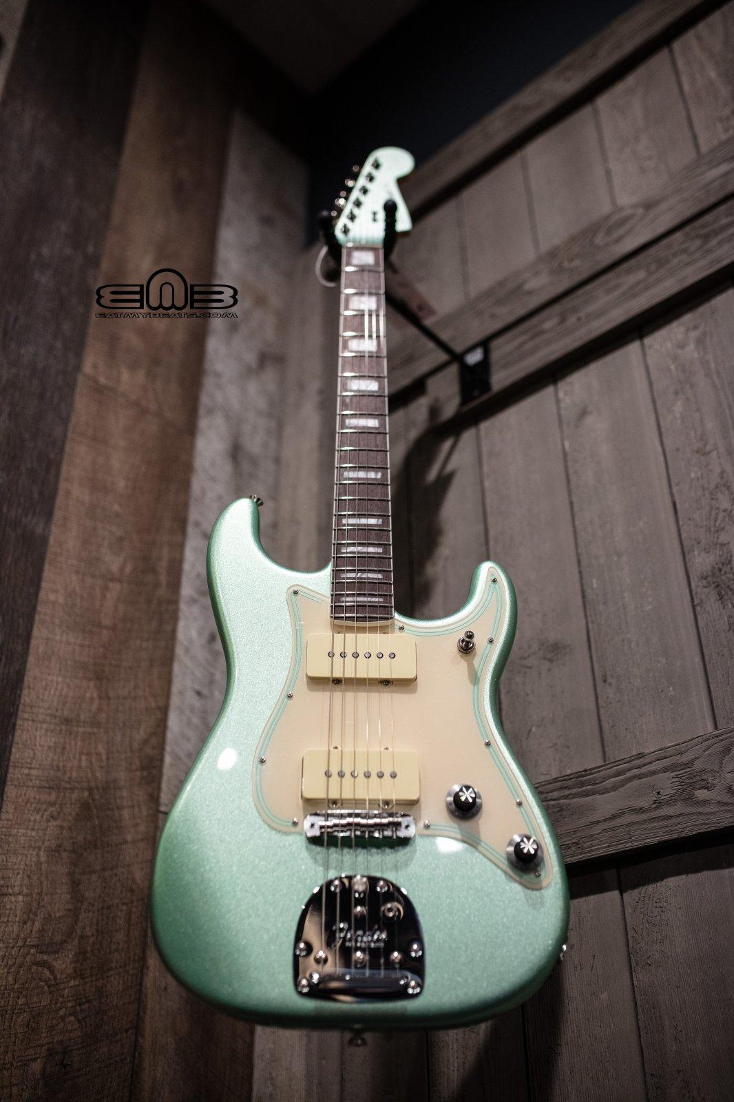 Fender Parallel Universe II Jazz Strat Electric Guitar, Rosewood Fingerboard, Mystic Surf Green 0176730718
