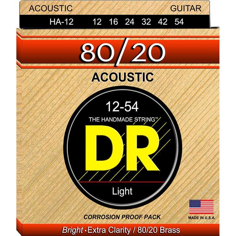 DR accoustic light HA-12 guitar strings