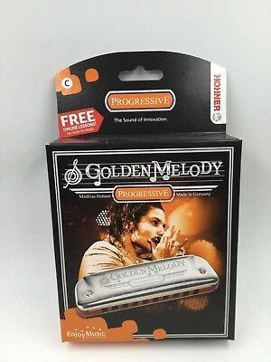 Hohner 542PBX-G Progressive Golden Melody Harmonica in KEY OF G
