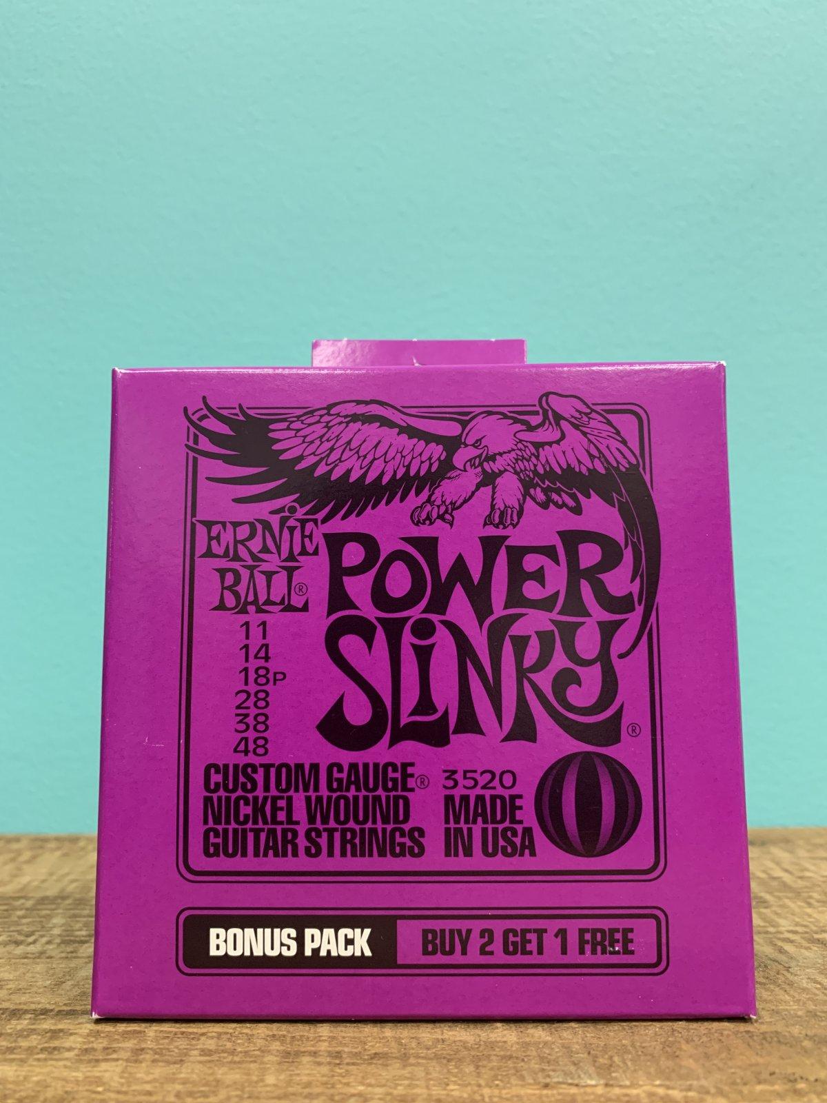 Ernie Ball 3520 Bonus Pack Buy 2 Get 1 Free Power Slinky