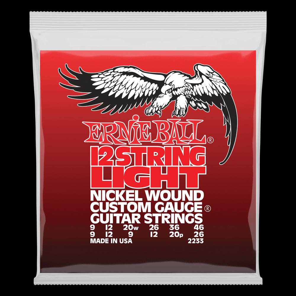 Ernie Ball 2233 Nickel Wound Custom Gauge 12-String Light