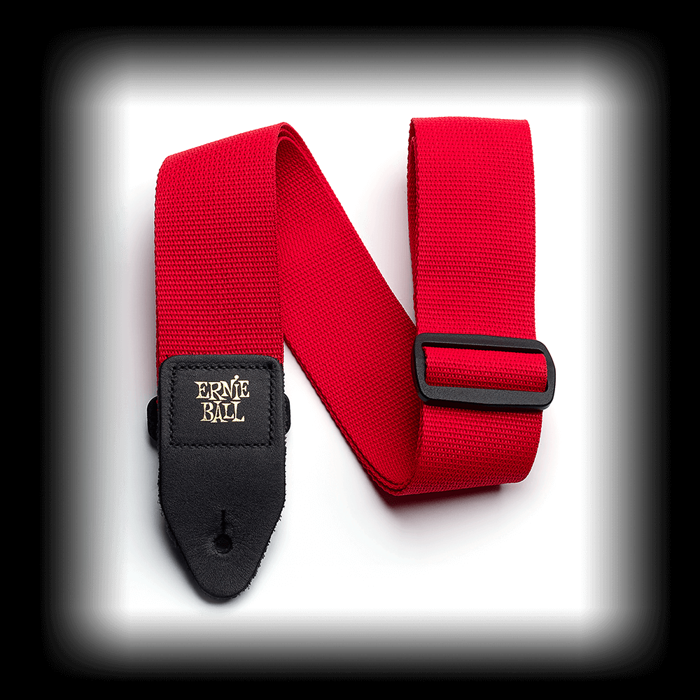 Ernie Ball 4040 2 Red Polypro Leather Ends 2 Guitar Strap