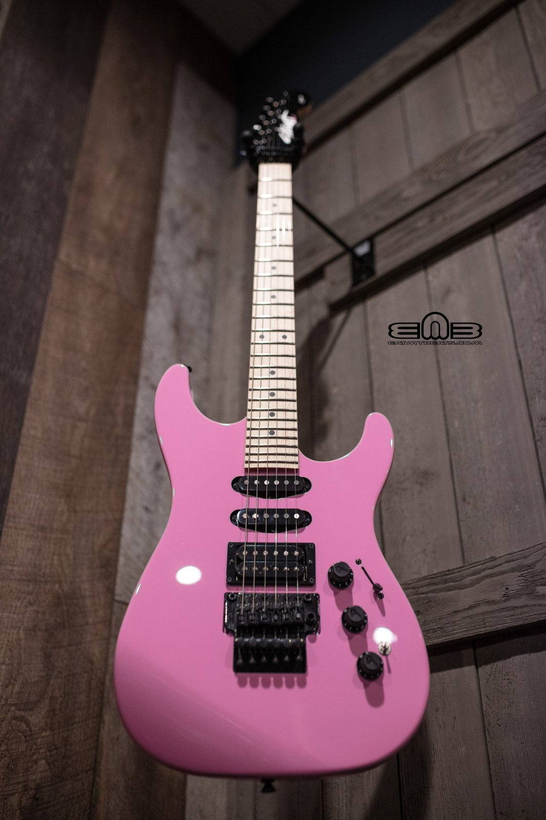 Fender Limited Edition HM Strat Electric Guitar, Maple Fingerboard, Flash Pink 0251702364