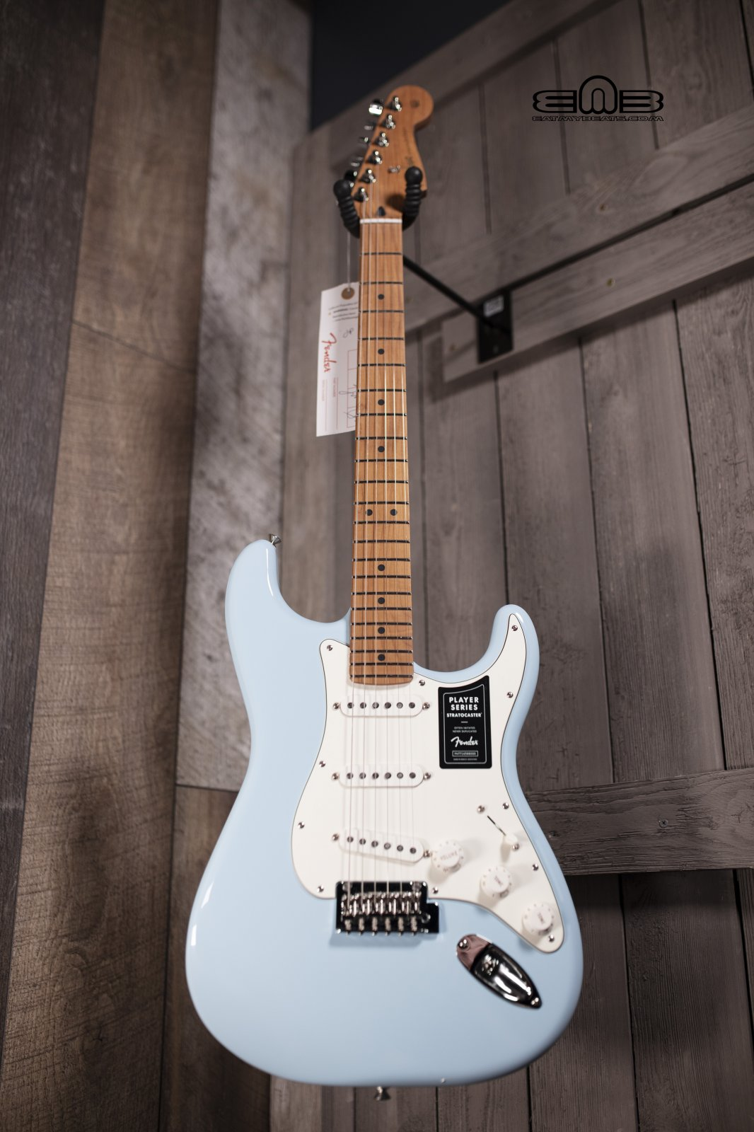 Fender Limited Edition Player Stratocaster Electric Guitar with Roasted Maple  Neck, Maple Fingerboard, Sonic Blue