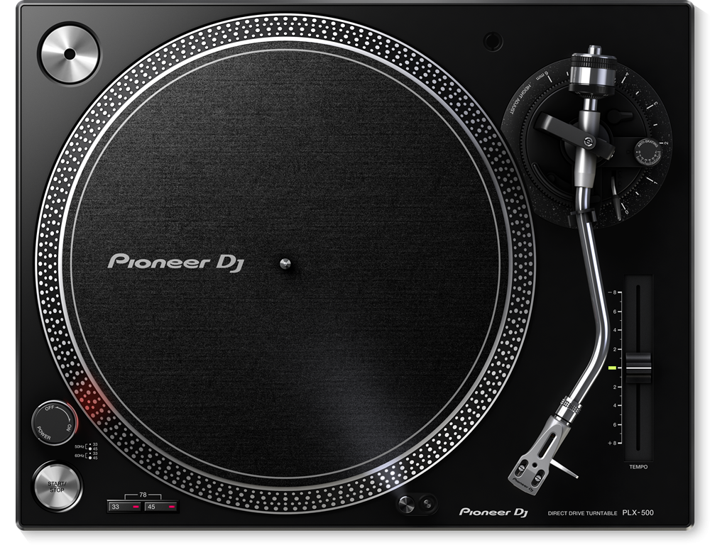 Pioneer DJ PLX-500-K Black Direct Drive Turntable