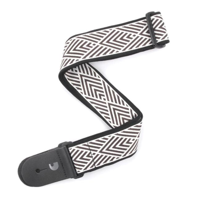 D'Addario Woven Guitar Strap, African Geometric, Cream