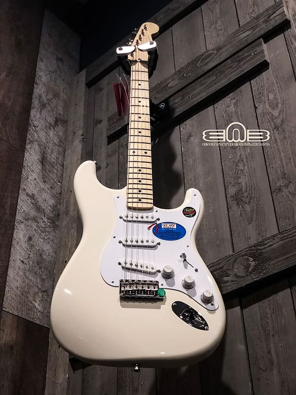 Fender Jimmie Vaughan Tex-Mex Strat, Maple Fingerboard, Olympic White