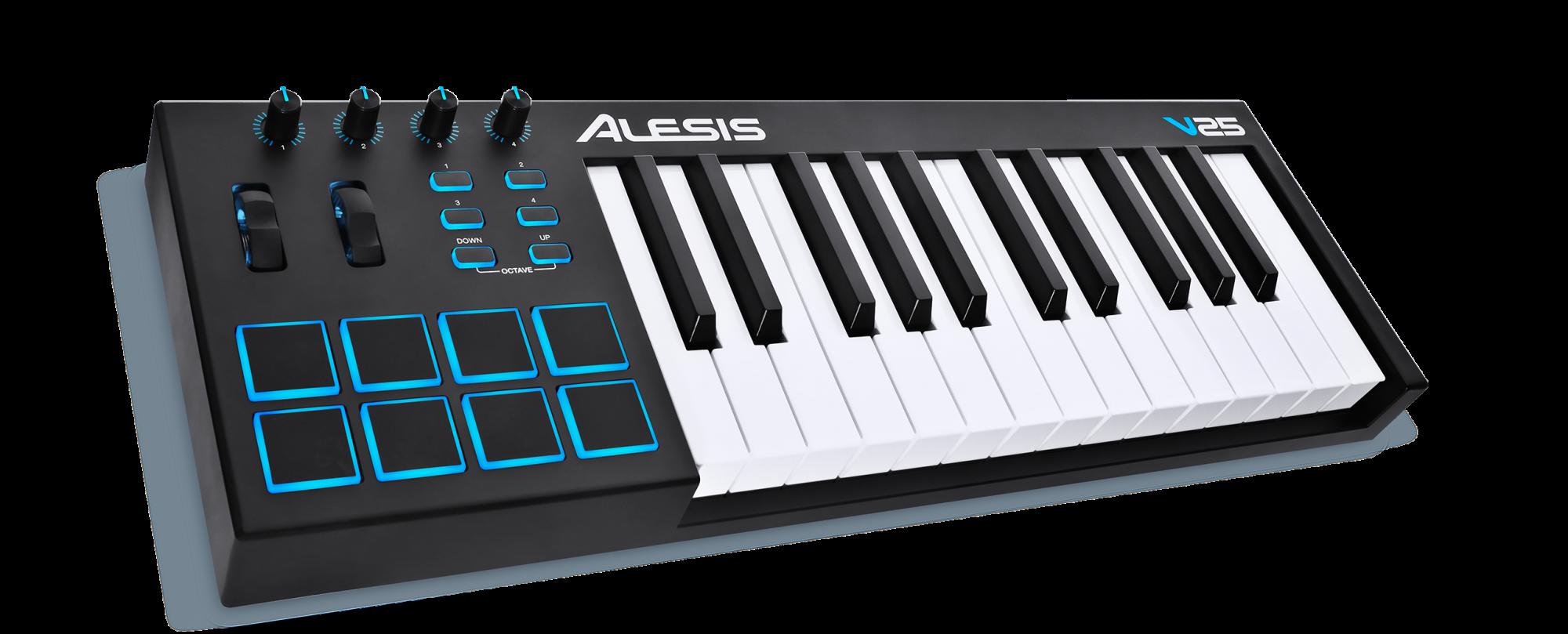 Alesis V25 25 Key USB MIDI Music Keyboard w/ Pads