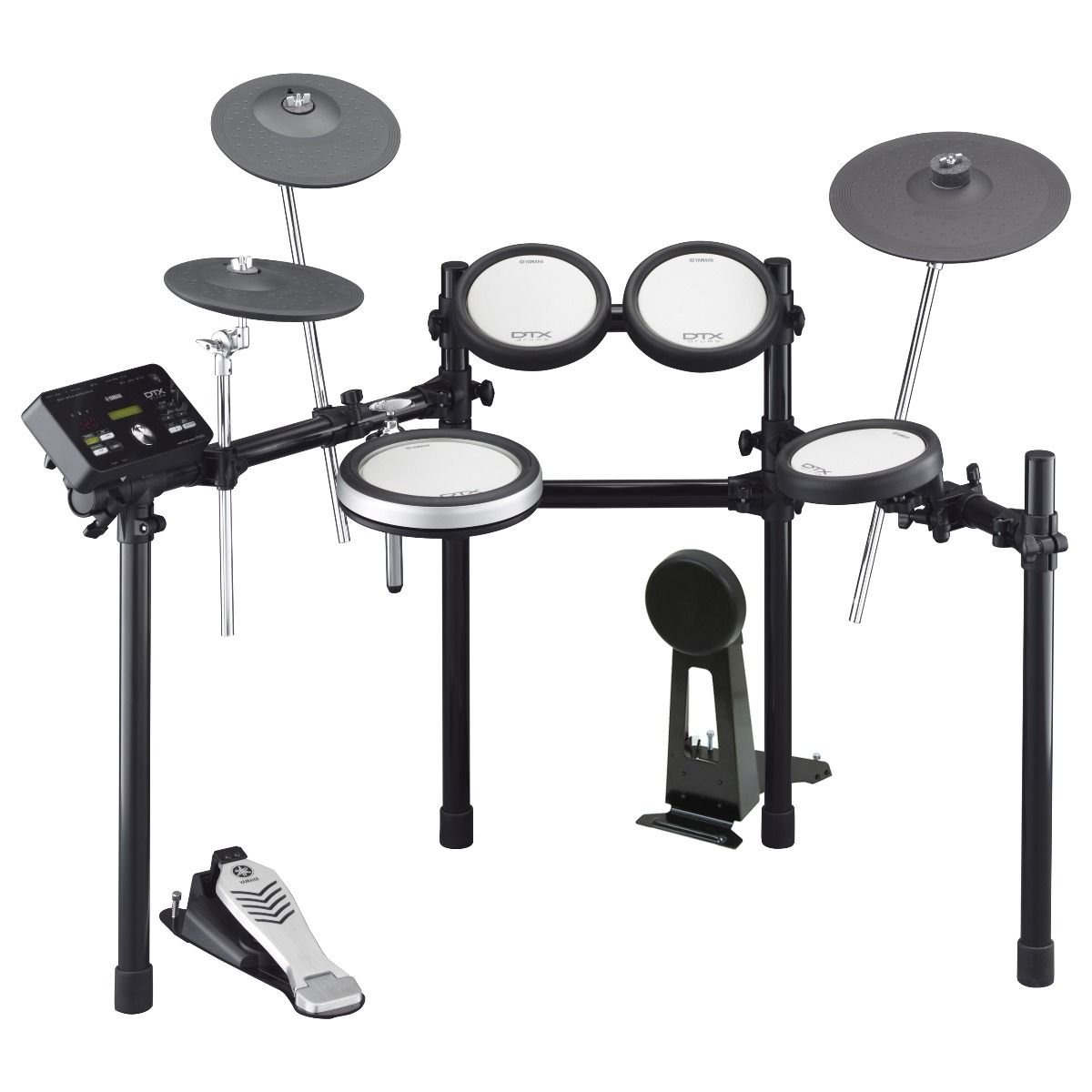 Yamaha DTX542K Electronic Drums w/ DTP542 Drum Pads, Cymbals XP80 Drum Pad DMR502 Rack System and TPCL500 Tom Holder (with Clamp)