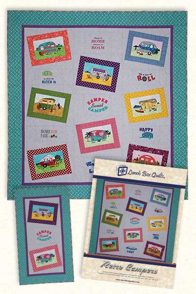 Retro Camper Embroidery Design by Lunchbox Quilts