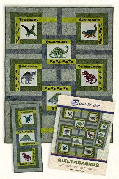 Quiltasaurus Embroidery Design by Lunchbox Quilts
