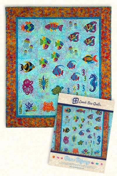 Ocean Odyssey Embroidery Design by Lunchbox Quilts
