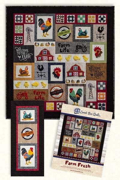 Farm Fresh Embroidery Design by Lunchbox Quilts