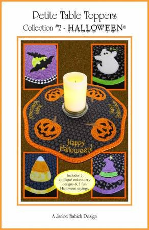 Petite Table Toppers Col 2 -Halloween Machine Embroidery CD