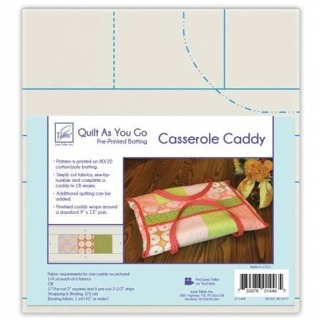 Quilt As You Go- Casserole Caddy