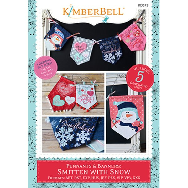 Kimberbell Pennants & Banners: Smitten with Snow Embroidery CD