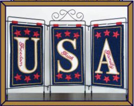USA Table Top Display