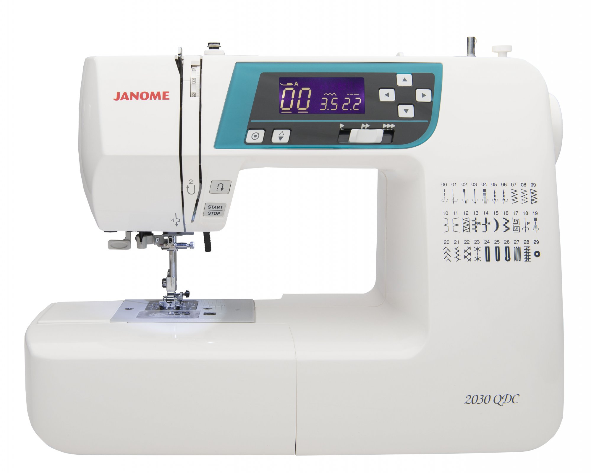 Janome 2030QDC Sewing Machine With ext. table and quilting kit