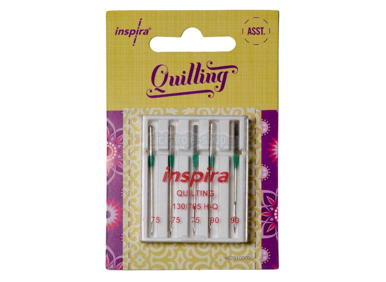 Quilting ASST Needles size 75/90-5 pack - Inspira