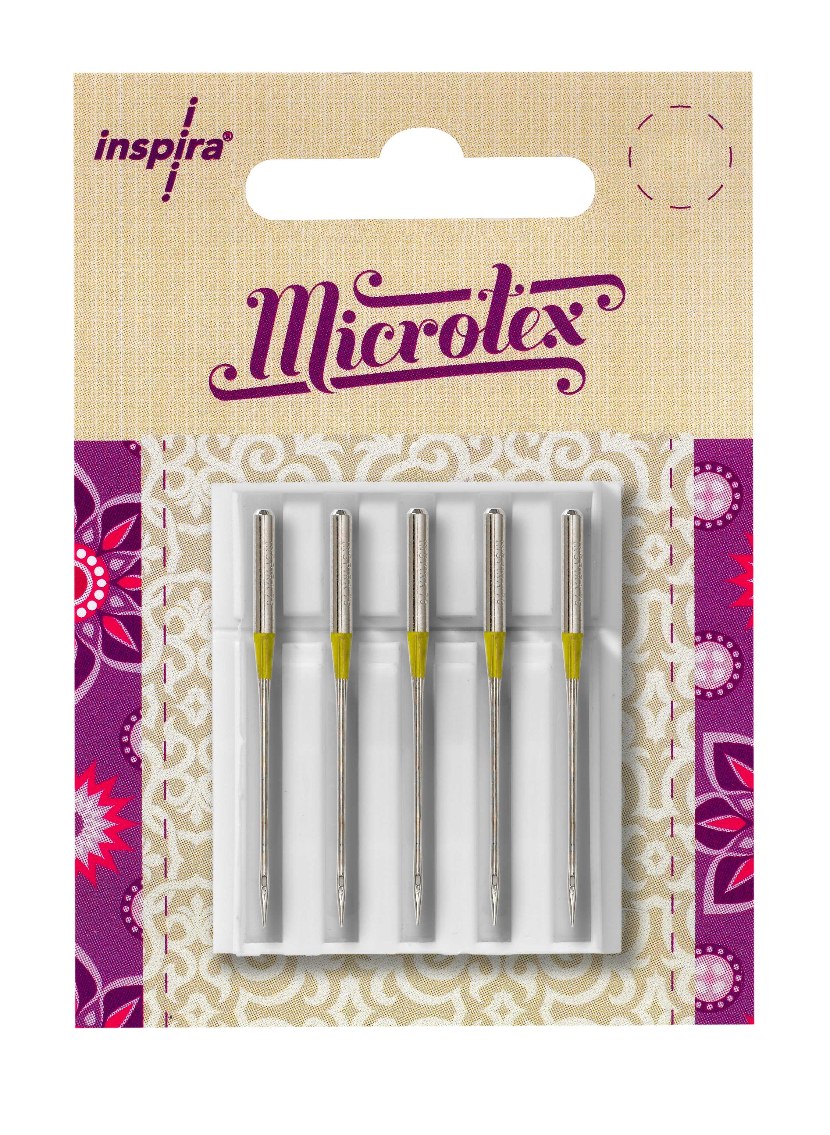 Microtex Needles size 80/12-5 pack Inspira