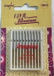 Inspira Titanium 134R 100/16 Needles-10 pack