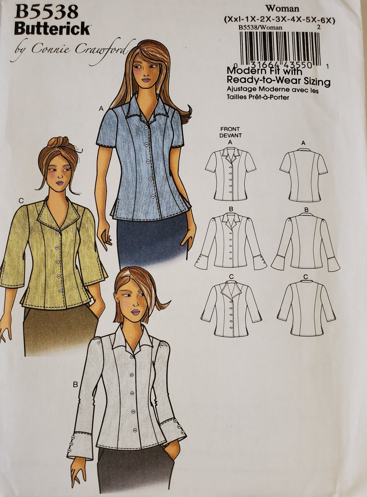 Butterick 5538 by Connie Crawford (Xs-S-M-L-XL)