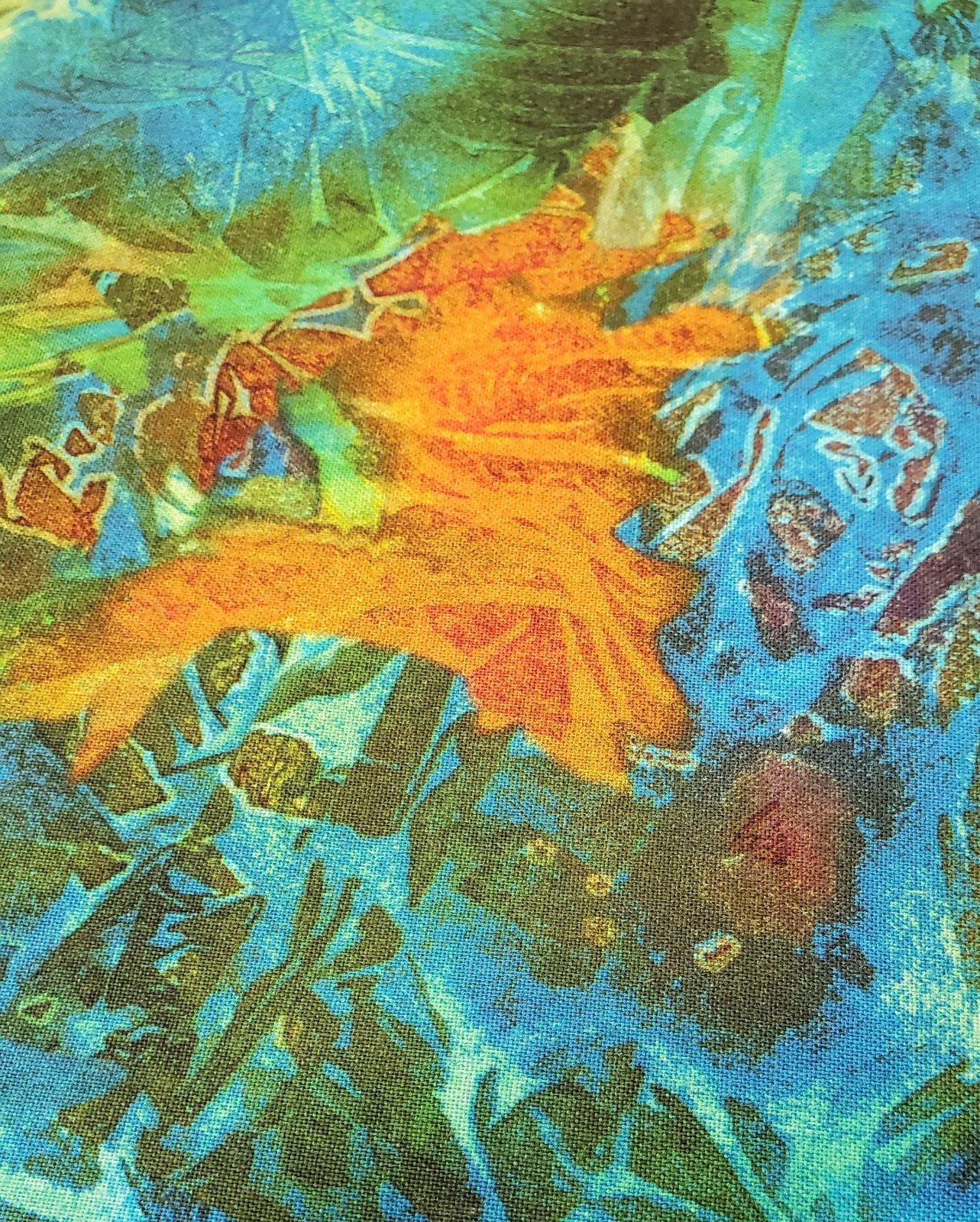 Teal  Batik Texture Digitally 45