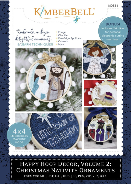 Kimberbell Hoop Decor - Vol 2: Christmas Nativity Ornaments