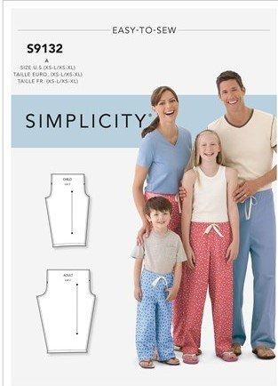 Simplicity Unisex Pajamas S9132