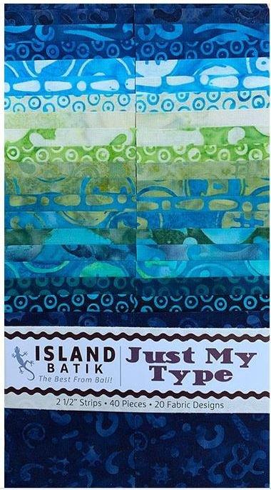 island batik just my type strip pk