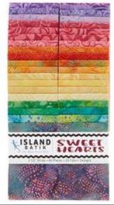island batik sweet hearts strip pk