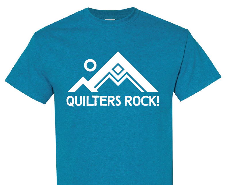 Quilters Rock! TShirt Small