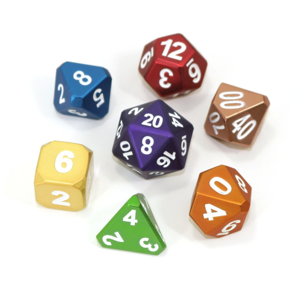 Forge Frosted Rainbow Mix - 7 Piece Metal RPG Set