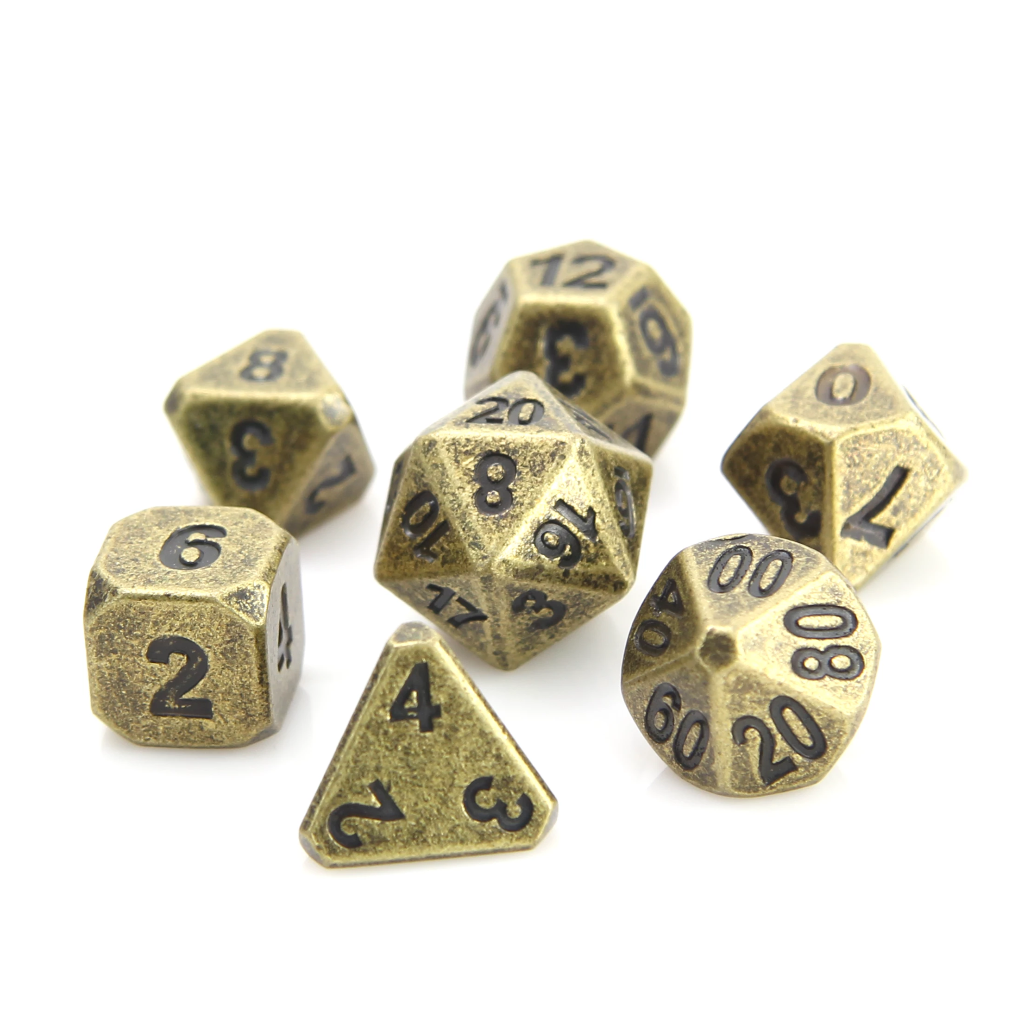 Forge Ancient Gold - 7 Piece Metal RPG Set