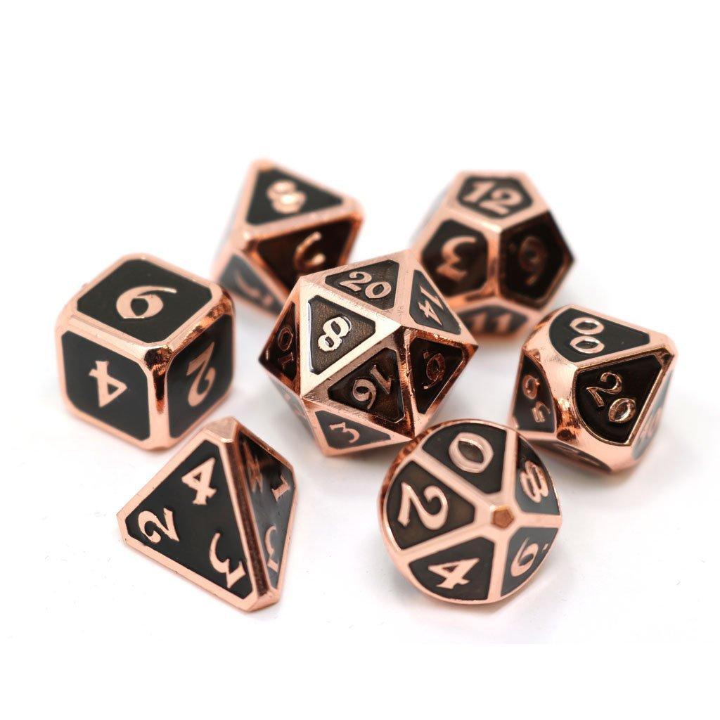 Mythica Copper Onyx - 7 Piece Metal RPG Set