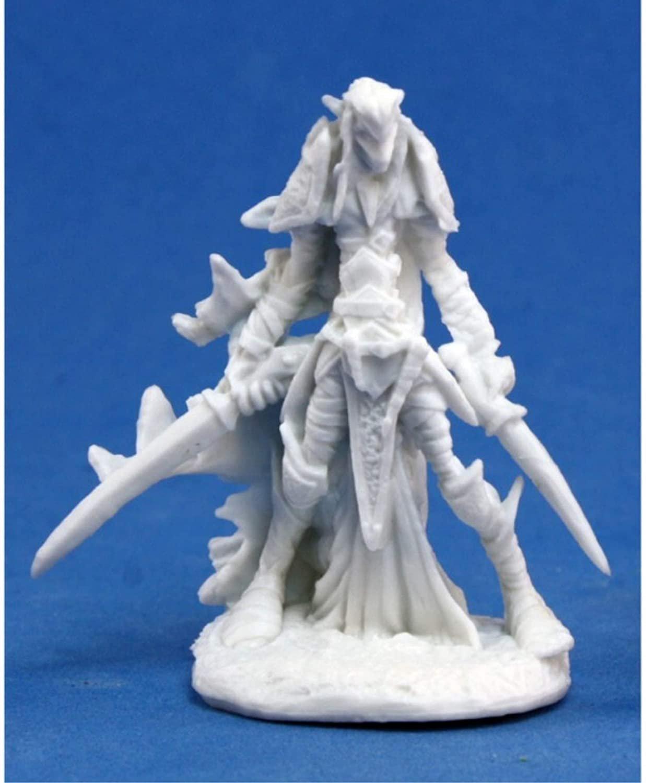 Dark Elf Warrior - Bones Miniature