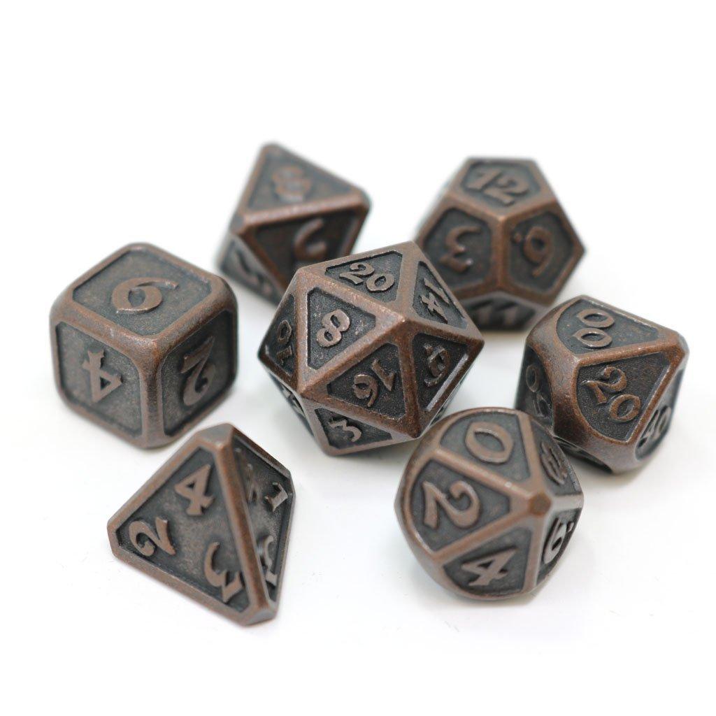 Mythica Dark Copper - 7 Piece Metal RPG Set
