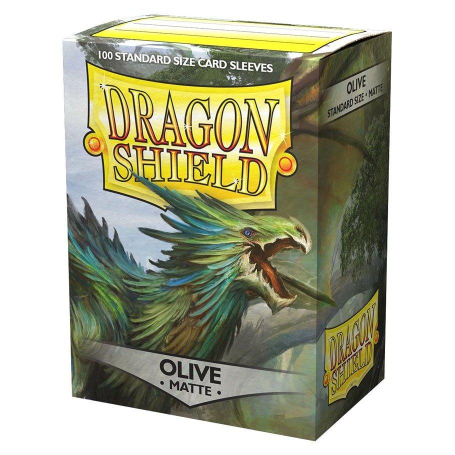 Dragon Shields: (100) Matte Olive