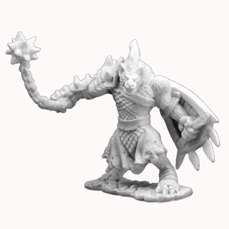 Gnoll Warrior - Bones Miniature