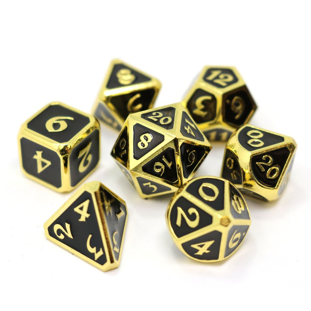 Mythica Gold Onyx - 7 Piece Metal RPG Set