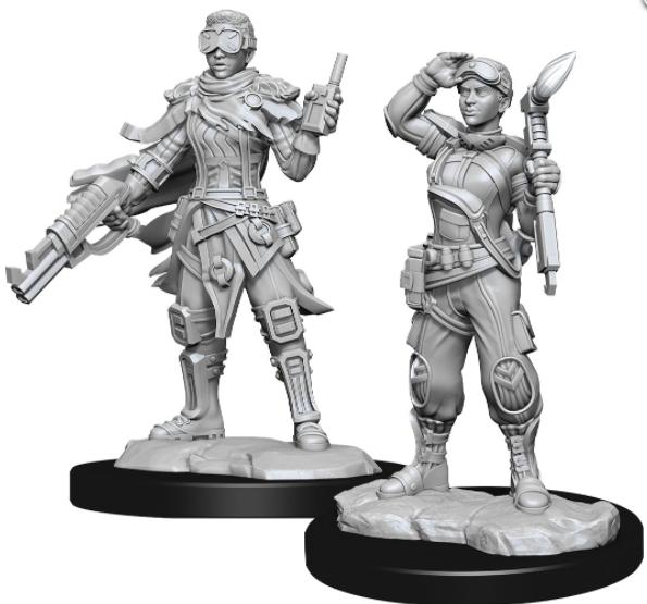 Human Mechanic Female - Starfinder Deep Cuts Unpainted Miniatures: W15