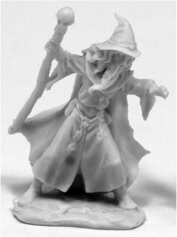 Lendil Blackroot, Wizard - Bones Miniature