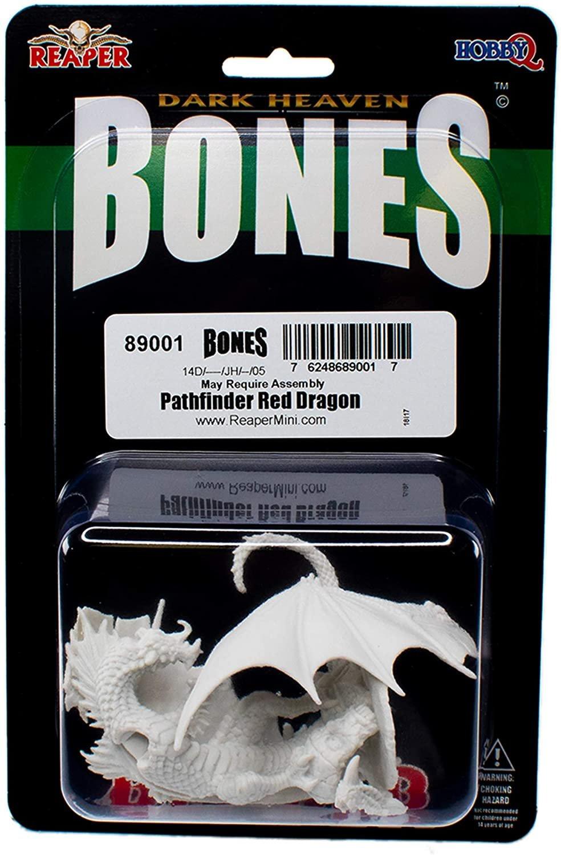 Pathfinder Red Dragon - Bones Miniature