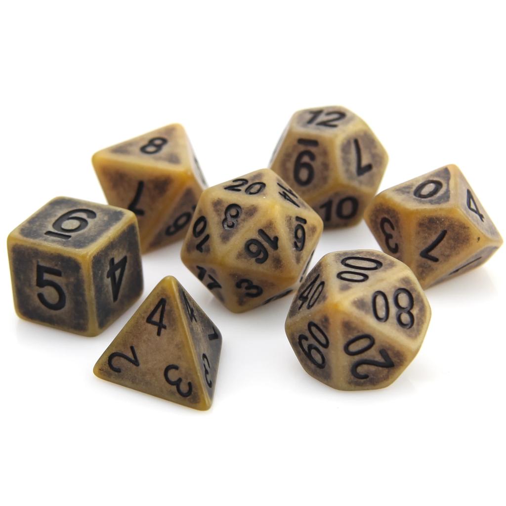 7 Piece RPG Set - Sand Ancient