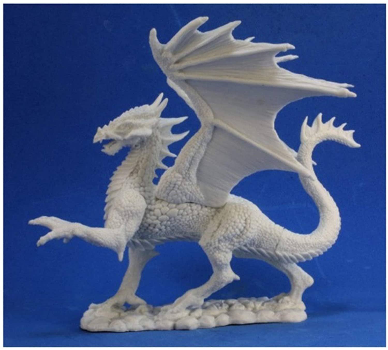 Silver Dragon - Bones Miniature