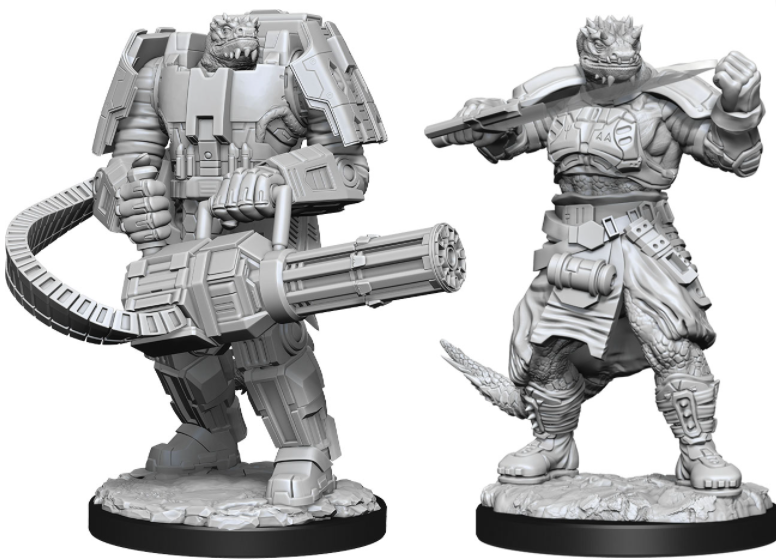 Vesk Soldier - Starfinder Deep Cuts Unpainted Miniatures: W15