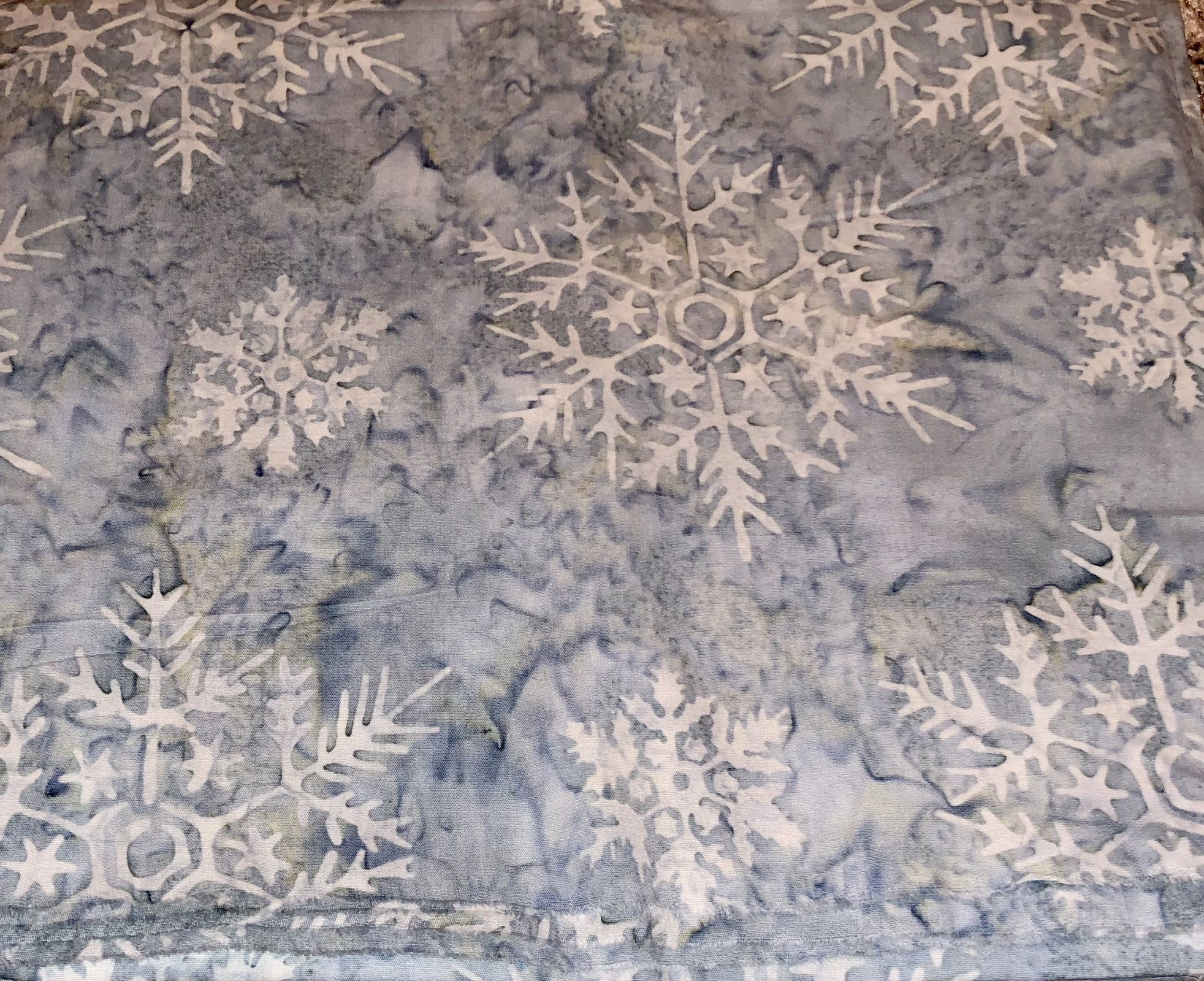 Light Blue with Snowflakes - 2 yds